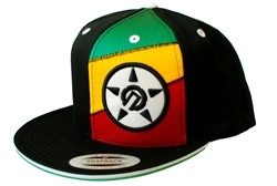 Unit Jah Tri Splice Secret Stash Pocket Snapback Hat Black  Our Price: €29.99