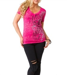 Metal Mulisha Crank It Up V Neck Pink  Our Price: €26.00