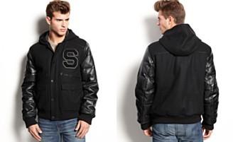 Sean John Jacket, Varsity Jacket  Web ID: 1029108  PRICE €158.47 Color: BLACK Size: size chart S M L XL XXL 3XL