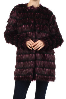 Textured, faux fur long sleeve sweater with inner lining.  70% Acrylic, 30% Terylene Made In: China Sizes: S M L  PRICE  €474.25