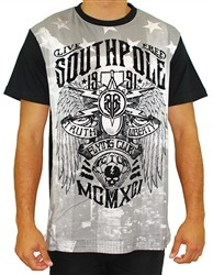 Southpole Flying Club Live Free Baseball Tee Shirt Black  Our Price: €26.00