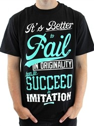 Mighty Healthy It's A Fail T Shirt Black  Our Price: €25.99