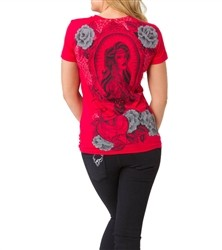 Metal Mulisha Dark Romance Crew T Shirt Red  Our Price: €22.00