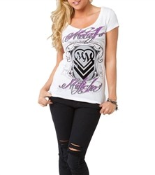 Metal Mulisha Family Crest Scoop Shirt White  Our Price: €25.00