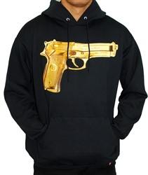 Breezy Excursion Gold Peace Hoodie Black  Our Price: $62.00