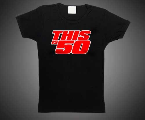 Thisis50 Logo Tee - Crayola Red Price: €14.95   Availability: Usually Ships in 24 to 48 Hours