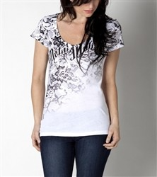 Metal Mulisha Crushed V Neck Shirt White  Our Price: €26.00