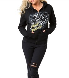 Metal Mulisha Scandalous Zip Fleece Hoodie Black  Our Price: €44.00