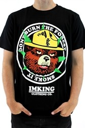 "IMKING ""Smokey"" Mens Crew Neck T Shirt Black  Our Price: €27.99"