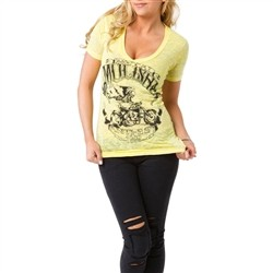 Metal Mulisha Extra Fly V Neck Yellow  Our Price: €26.00
