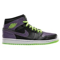 Jordan AJ1 Mid - Men's White/Court Purple/Black/Bright Citrus | Width - D - Medium  Product #: 54724117 Price: €104.99