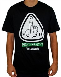 Mighty Healthy Greetings T Shirt Black  Our Price: €25.99