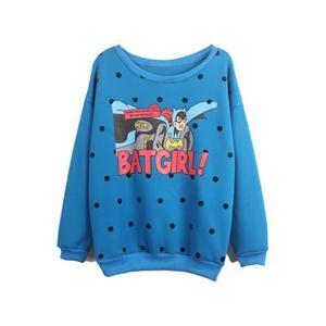 BATGIRL! & POLKA DOTS PRINT BLUE SWEATSHIRT PRICE €136.99