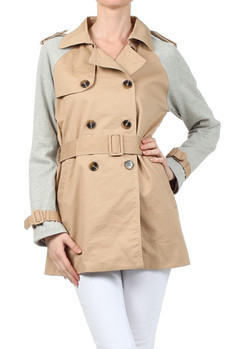Dual-tone trench coat with attached belt and epaulette shoulder detail.   100% COTTON  Made In: Import PRICE  €189.00