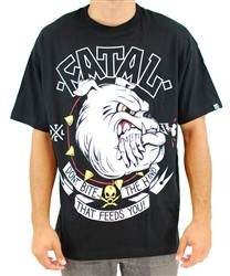 Fatal Dog Bite T Shirt Black  Our Price: €28.00