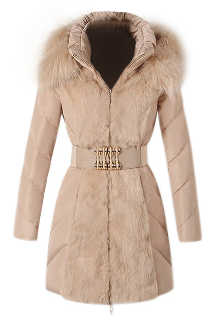 Woolen coats are all the rage at winter, coat features faux fur lapel front, zippered opening, long sleeves, twin front insert pockets, color block design. Mix awesome with bodycon skirt, leggings and ankle boots for an afternoon tea - PRICE €€236.97