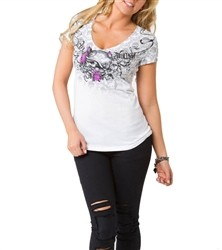 Metal Mulisha Rosalie V Neck White  Our Price: €25.00
