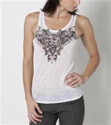Metal Mulisha Tattered Tank White  Price €26.00