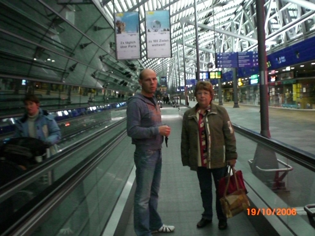Flughafen Leipzig - kurz vor Abflug nach Amerika