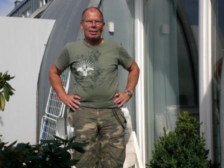 Peter auf der Terrasse bei Mike