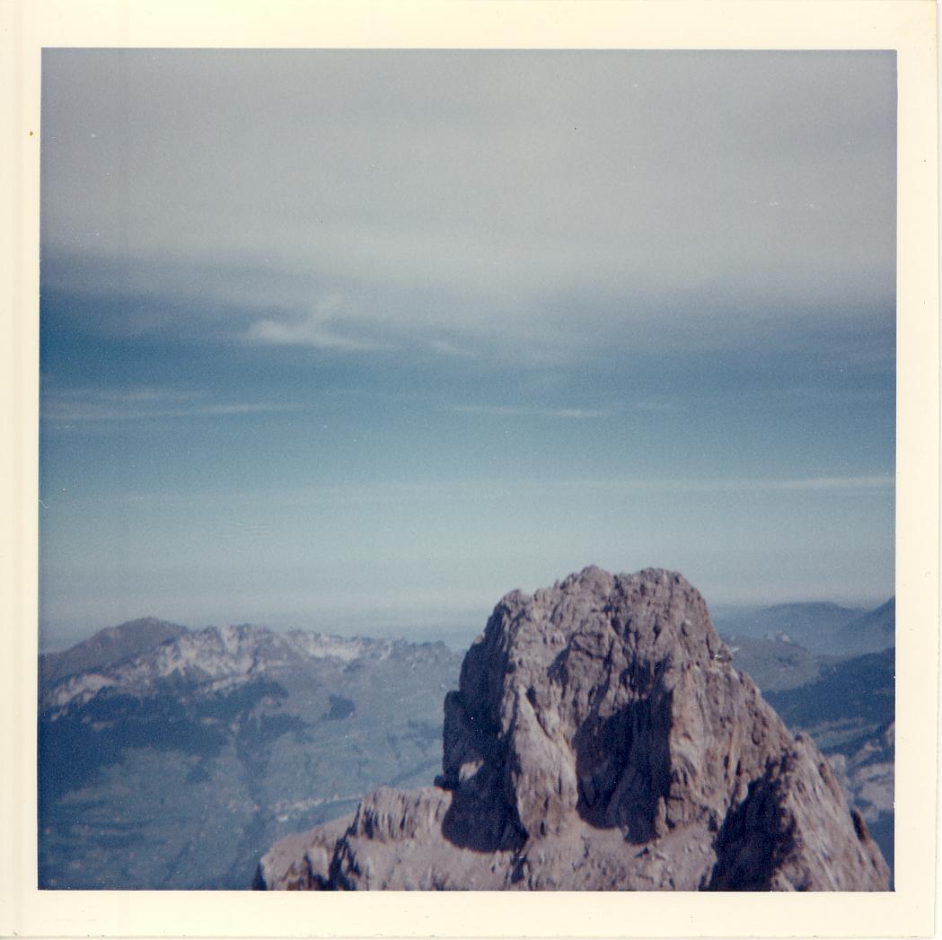 Blick zum Bösen Mürtschen 2390 m.ü.M.