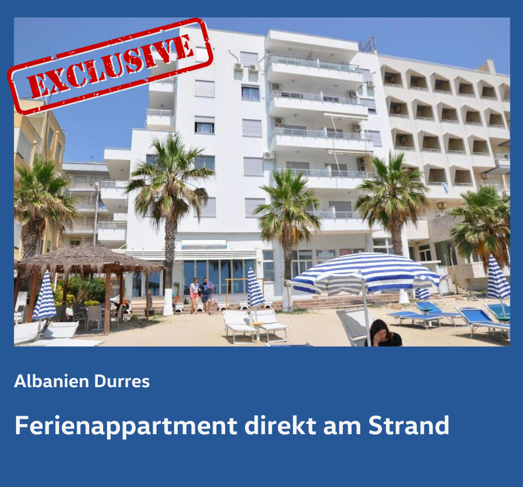 Albanien - Ferienappartment direkt am Strand