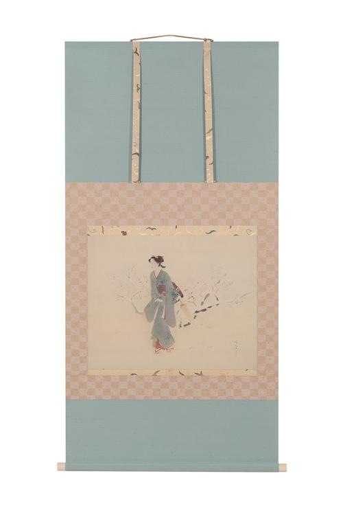 鏑木清方先生 寒紅梅 装:小林清蘭堂