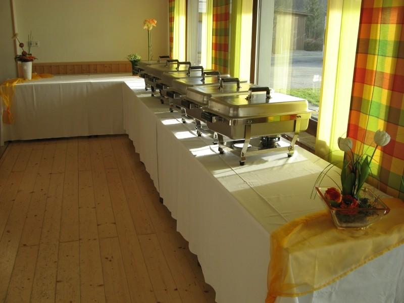 Sie haben ausreichend Platz für das Catering oder Ihr Buffet.
