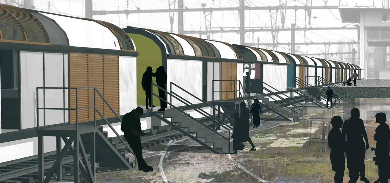 Habitats mobiles d'urgence