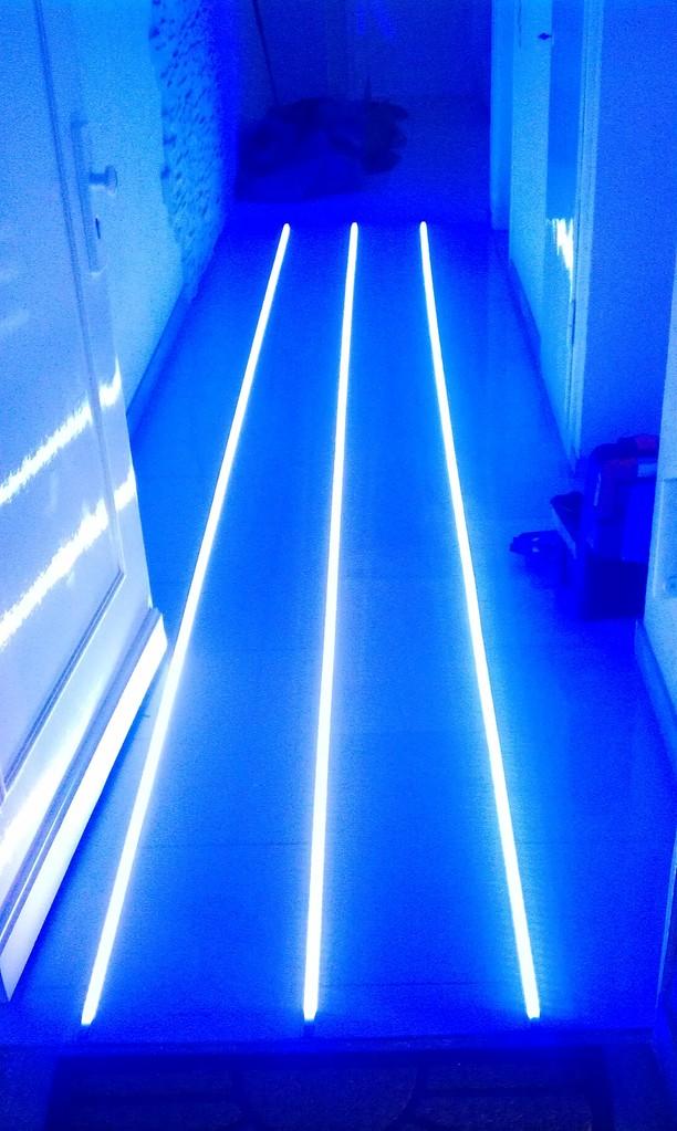 LED in Blau