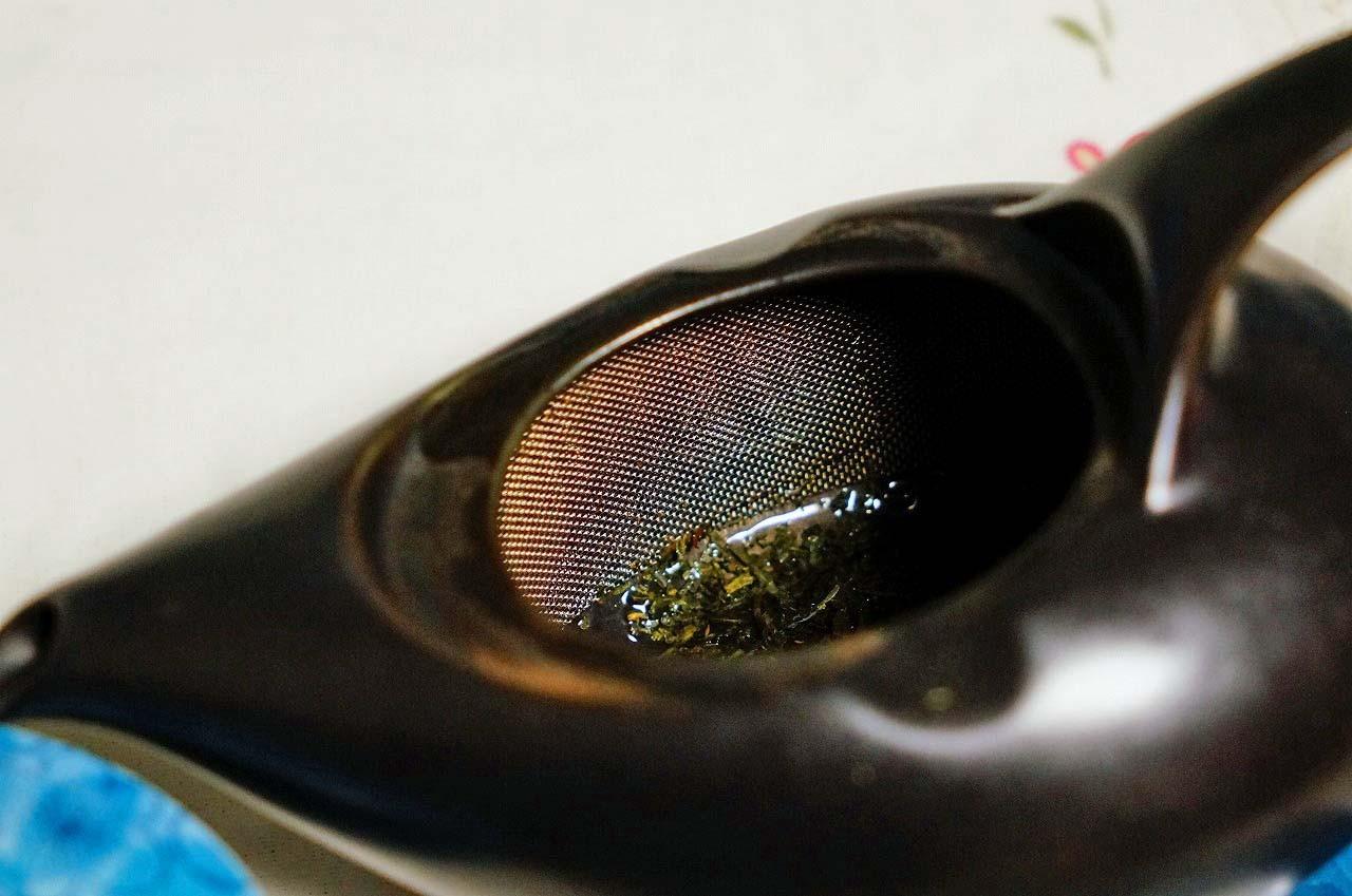お茶っ葉が360度、抽出できるんだよ!