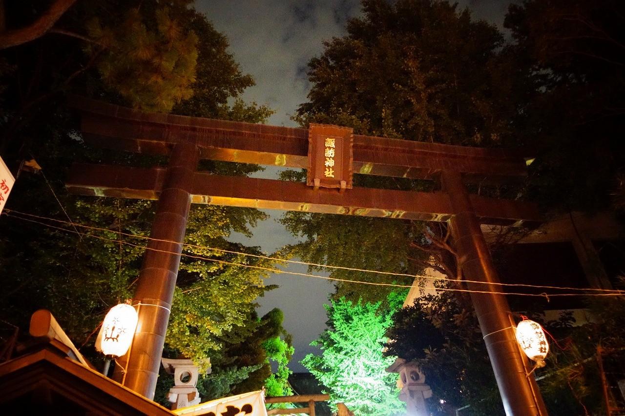 諏訪神社のお祭り!