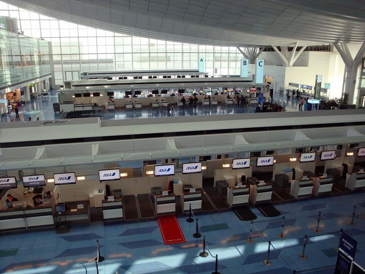 まだ成田空港のように人は多くないみたい