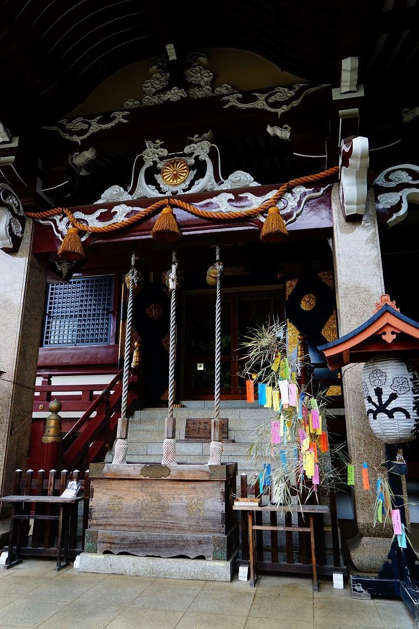諏訪神社の神殿にも短冊があるよ