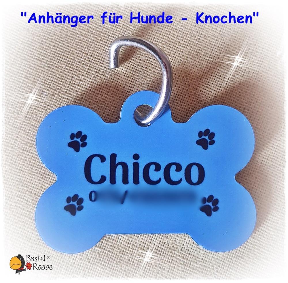 """""""Hundeanhänger - Knochen einfarbig"""""""
