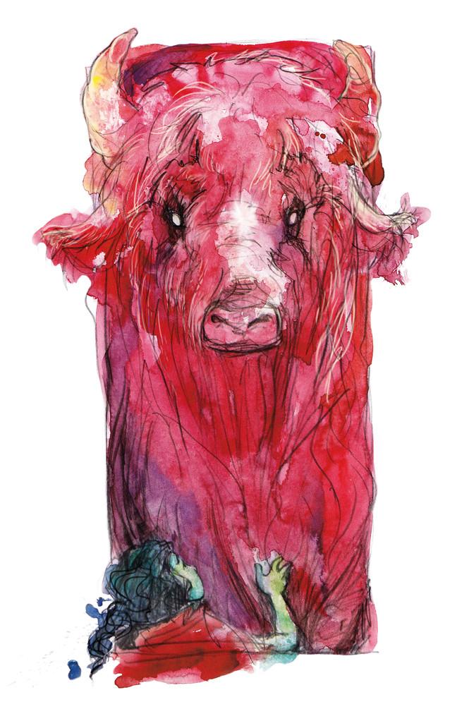 Der Purpurbüffel erscheint Atréju im Traum