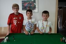 Die Sieger. V.l.r. Michael (Sieger Challange), Joshua (Sieger Sommerferiencup), Simon (2. Platz Sommerferiencup)