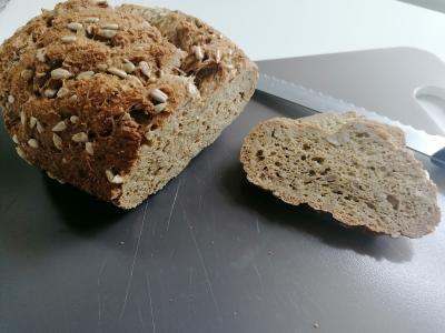 Rezept: Leinsamen-Brot ohne Mehl und ohne Hefe, glutenfrei