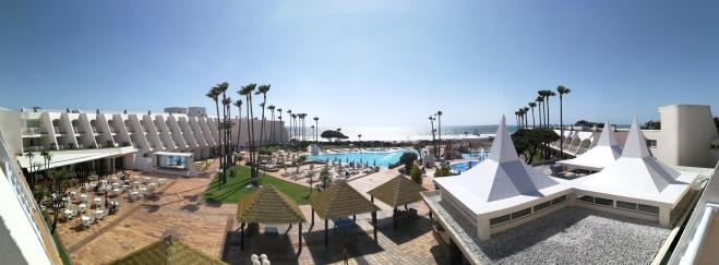Blick auf Pool, Hotel Iberostar Royal Andalus, Costa de la Luz, Spanien