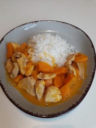 Rezept: Putengeschnetzeltes mit Kürbis - glutenfrei