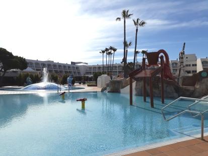 Kinderpool mit Rutschen, Hotel Iberostar Royal Andalus, Costa de la Luz, Spanien