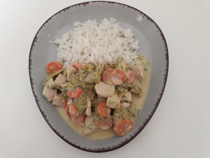 Rezept: bunte Hähnchen Gemüse Pfanne, glutenfrei
