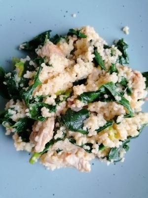 Rezept: Spinat-Geflügel-Hirse, glutenfrei