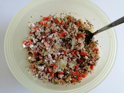 Quinoa-Salat mit Feta, glutenfrei