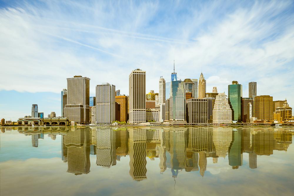 Manhattan Skyline von Brooklyn Heights Promenade aus gesehen