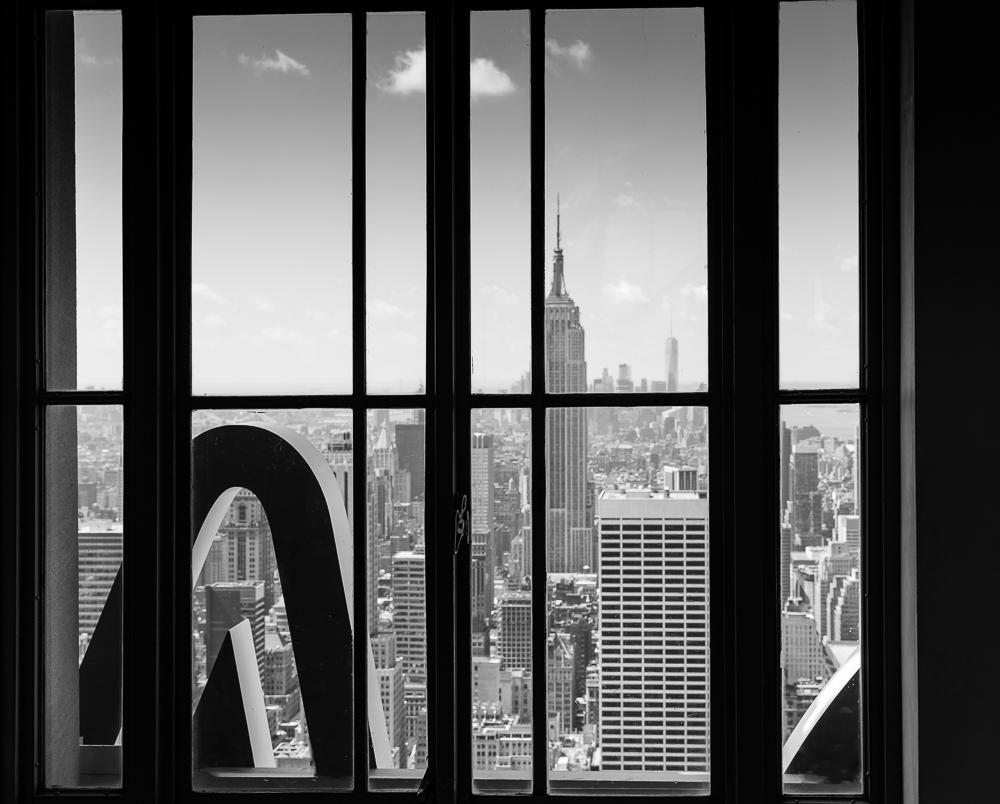 Blick auf Empire State Building von Top of the Rock