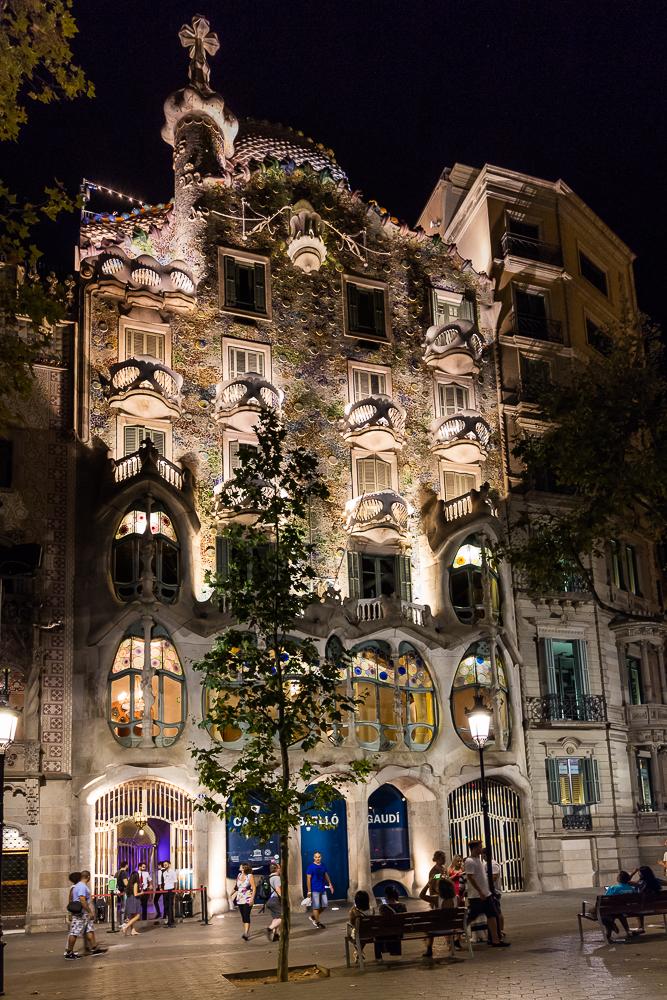 Casa Battló, Passeig de Gràcia, in Barcelona