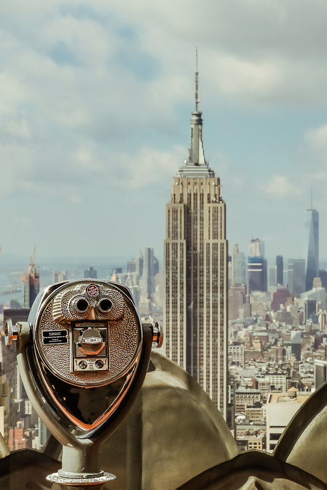 Empire State Building von Top of the Rock aus gesehen
