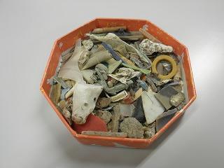 荒川河川敷から出たマイクロプラスチック