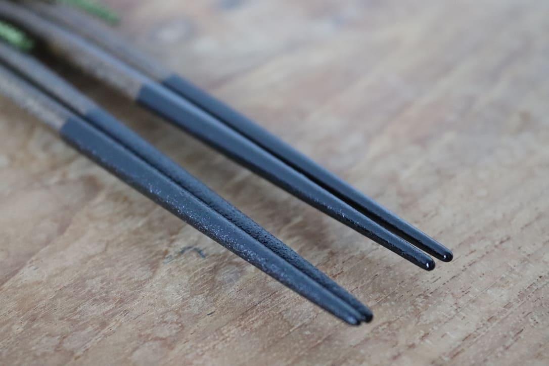 """Pentagonal paired chopstick set """"Kanshitsu"""""""